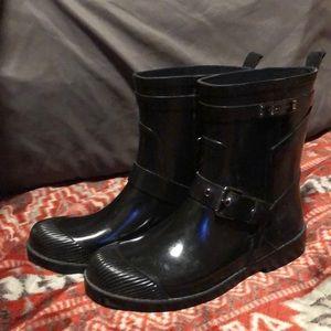 Coach rain boots color black size 6B women's